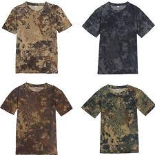 Men's Military Army Camo Camouflage Shirt Hunting Fishing Plain T-shirt Tee Tops
