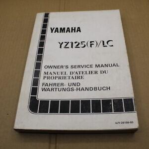 MANUEL REVUE TECHNIQUE D ATELIER YAMAHA YZ 125 / LC 1994 YZ125 F SERVICE MANUAL