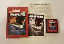 Atari 2600 video game GRAVITAR CIB complete in box 1988