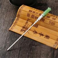 Pince à Cheveux En Jade Chinois à La Mode De Chignon Baguette À Épingles
