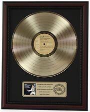 """ELVIS PRESLEY BLVD GOLD LP RECORD FRAMED CHERRYWOOD DISPLAY """"K1"""""""