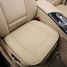 Front Car PU Leather Seat Covers Beige Breathable Cushion Universal Fit AU STOCK