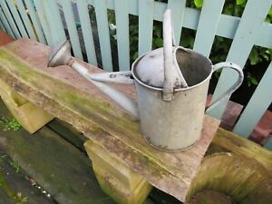 VINTAGE GALVANISED LARGE WATERING CAN COMPLETE WITH ROSE HOUSE CLEARANCE
