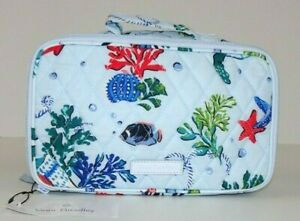 NWT Vera Bradley Blush and Brush Makeup Case ANCHORS AWEIGH Travel Cosmetic