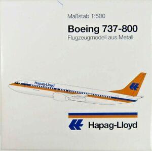 """HERPA WINGS 1:500 SCALE DIECAST """" HAPAG-LIOYD BOEING 737-800 """" 511186"""