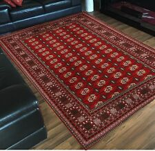 Large Floor Rug Traditional Persian Design Burgundy Red NEW 230 x 160 Carpet Mat