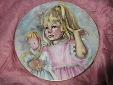 Pinky and Baby , Limoges France , 1976 , Collector Plate