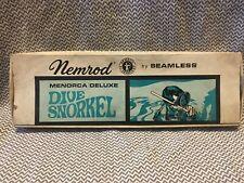 Nemrod By Seamless Menorca Deluxe Dive Snorkel NIB made In Spain Retro Vintage
