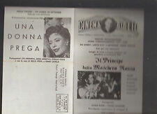Cinema Giglio 1961 New York City Ad Sheet Graziella Cento Serenate
