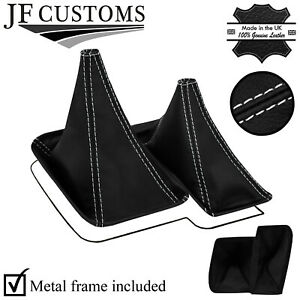 WHITE STITCH TOP-GRAIN LEATHER GEAR + METAL FRAME FOR NISSAN PATROL Y61 97-13