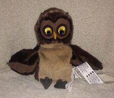"""Owl Puppet Soft Plush IKEA Vandring Uggla Stuffed Animal Toy 9"""""""