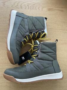 Sorel Whitney Khaki Women Boots snow Size 38 NEW US7 UK5