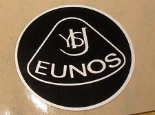 Plastic Badge, Eunos Roadster retro style, 55mm, black silver stick on not Lotus