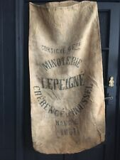 More details for french vintage grain sack printed hessian cushion & market bags 48