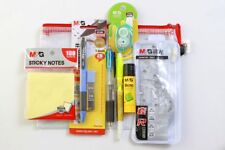 STATIONERY SET WITH PENCIL CASE Pen PENCIL Glue NOTE PAD Highlighter Back2School