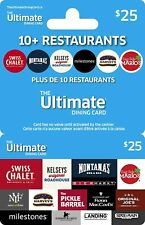 """CA$25 """"The Ultimate Dining Card"""" - Free shipping to CANADIAN address ONLY - Mail"""