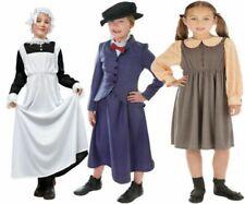 Grembiule Per Bambini Vittoriano Costume Cameriera Serva Kids Girls