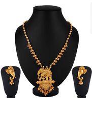 Etnico indiano oro placcato bahubali un pendente Set Collana Orecchini Fashion Jewelry