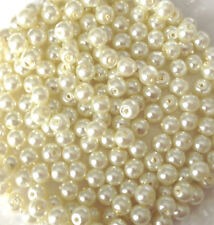4mm Glass Faux Pearls strand - Ivory (200+ beads) jewellery making, craft