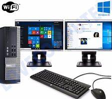 Dell Dual Screen OptiPlex SFF Fast cheap Desktop Core i5 8GB 500GB Windows 10