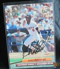 Hubie Brooks California Angels Fleer 92 #322 Signed Baseball Card