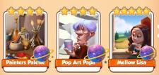 Painters Palette, Pop Art Papa and Mellow Lisa (Immediately sending)