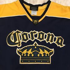 As Is Corona Extra Hockey Jersey Men's Extra Large Xl Beer Advertisement Cerveza