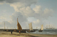 A Dutch Beach Scene by Charles Brooking 75cm x 48cm Canvas Print