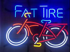 """New FAT TIRE Belgian Beer Neon Light Sign 17""""x14"""""""