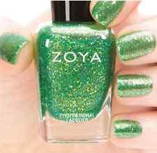 ZOYA ZP736 STASSI citron green w/ gold holographic jelly nail polish~BUBBLY *New