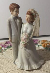 Vintage Lefton Wedding Cake Topper - 1984 Christopher Collection  # 04032