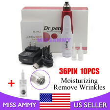 Dr. Pen N2 Wireless Electric Derma Pen+10pcs 36Needles Cartridges Anti Aging Set