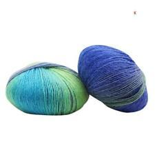 Soft Cashmere Baby Wool 50g Ball Rainbow Colorful Knitting Crochet Yarn ToolDIY.