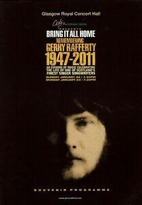 Gerry Rafferty Memorial Night Souvenir Programme. Mint