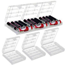 6 Sets AA AAA Cell Battery Storage Case Holder Organizer Box Clear Hard Plastic
