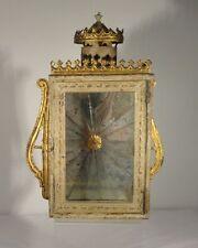 Antique Decorative Hanging Wall Mount Candle Lamp Lantern Mirror Tin