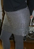 Chain mail Skirt  Medieval Knight 9 mm Round Riveted With Flat Washer