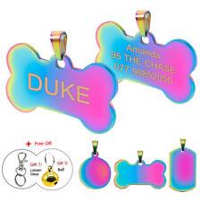 Placa chapa de identificación personalizada para collar perro gato mascota HUESO