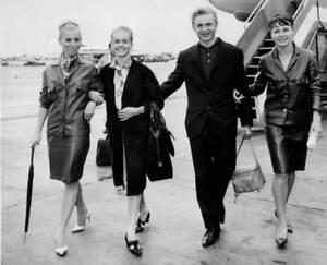 Four stars of the Leningrad State Kirov Ballet arriving at London 1966 OLD PHOTO
