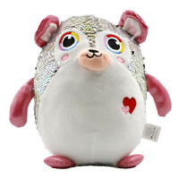 Large Stuffed Animal Toy Reversible Sequins Bear Doll - 10 inch