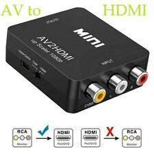 AV to HDMI 1080 P 3 x RCA CVBS Video Audio Composite Converter Mini Adapter HDTV