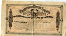 1864    $1000   Confederate  Bond  Dates of Issue  Unknown if any