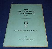 Die deutschen Divisionen 1939-1945 - Walther Hubatsch - 61. Infanterie-Division