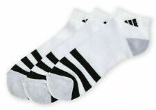 3 Pair Adidas Low Cut Socks, Men's Shoe 6-12, White, Black, Athletic New In Pack