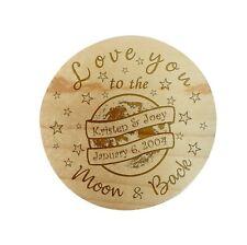 Custom Personalize Ring Box Engraved Wedding Proposal Engagement Bearer Moon