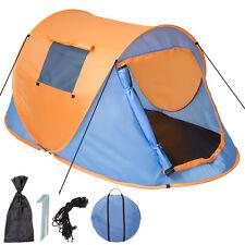 Tenda popup campeggio 2 posti automatica instant viaggio trekking moto blu