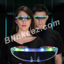 Flashing Blinking Light Up STELLAR Party Sunglasses NEW YEARS FUN! - FREE SHIP~