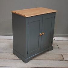 School Cupboard, Storage Cabinet 2 door in Vintage Grey