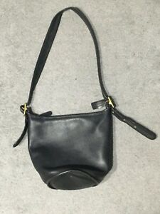 Black Coach Bucket Bag Medium Size