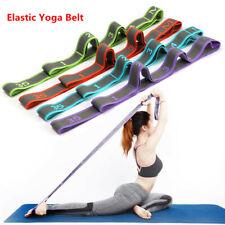 Elastic Yoga Belt Adjustable  Yoga Pull Strap Latin Dance Stretching Band UK